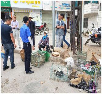 整治占道售卖牲畜行为