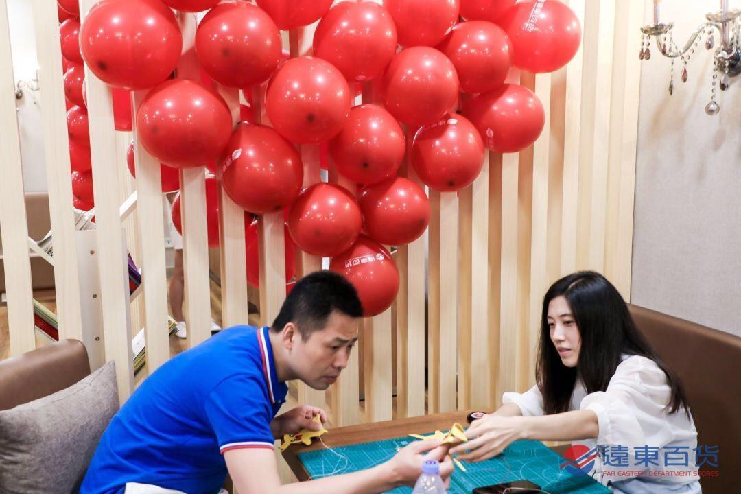 七夕浪漫之旅,远东百货亚博真人备用网址手作课堂开启,快来感受手指间的爱意