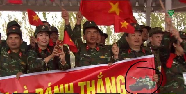 坦克两项赛越南军人闹乌龙,宣传喷绘用错了图案,仔细一看笑喷