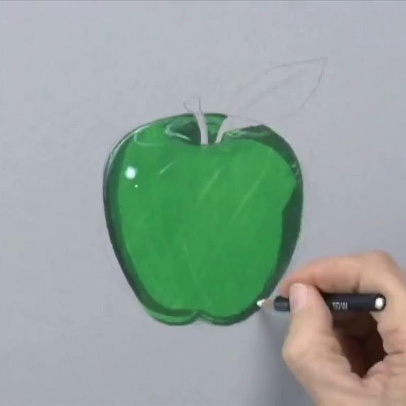 美术生画水晶苹果,点上高光一瞬间,网友:仿佛有了灵魂
