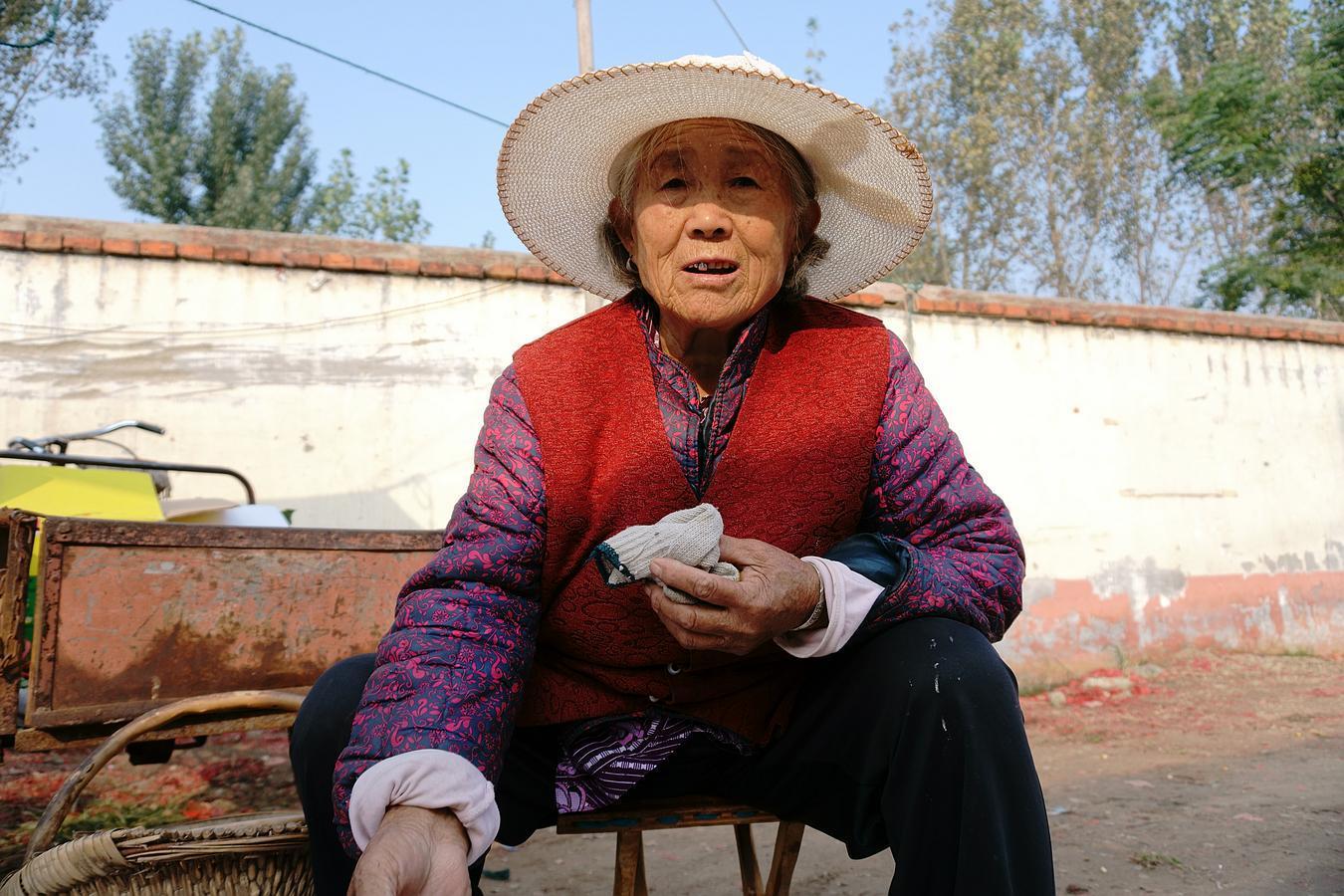不容易,大集上8旬老人卖水果每天挣20元,为啥不敢说价格