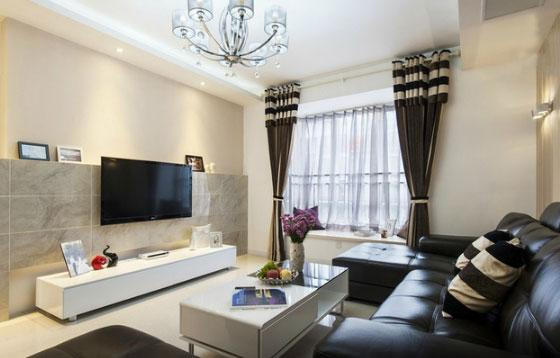 简洁的现代风格三房装修,电视背景墙这样装修真好看,谁见过?