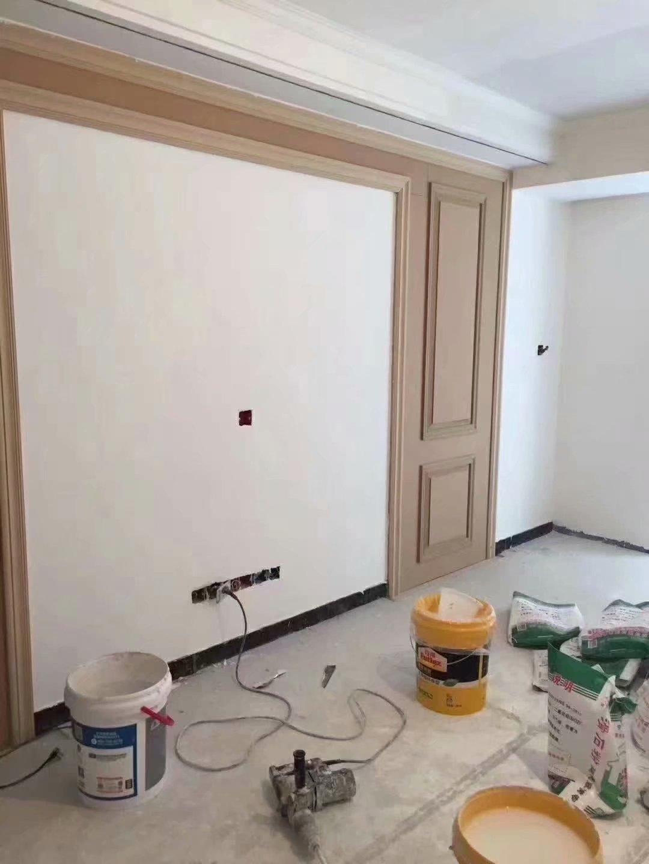 南京青年城,现场做的电视背景墙(护墙板),