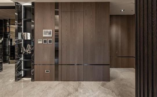 143平简约风空间,白黑灰3色打造低调沉稳感,大理石材质奢华考究
