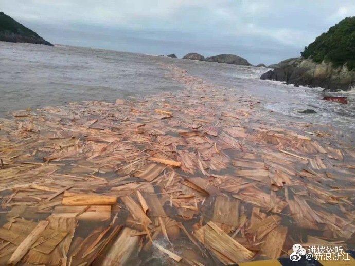 宁波海域发现漂浮肉制品