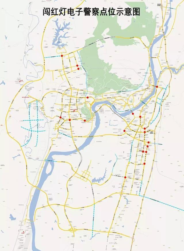 """达州市中心城区57处交通技术监控设备13日""""上岗"""""""