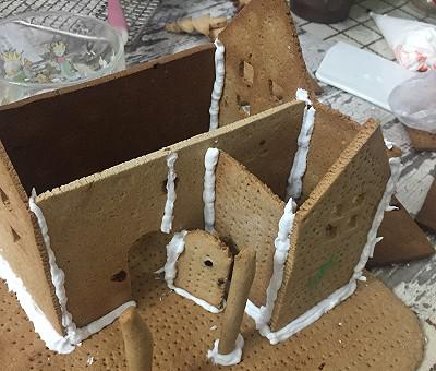 令人羡慕的圣诞大餐姜饼屋~不用买模具含图纸