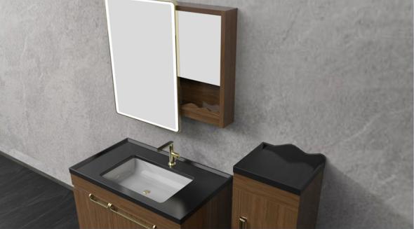 不凡设计造就非凡卫浴 帝王洁具见山系列浴室柜评测
