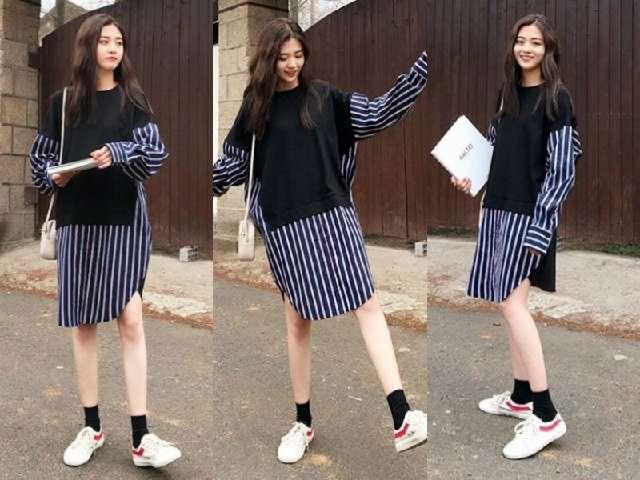 春季最流行的5款衬衫裙搭配,跟着穿时髦度飙升~