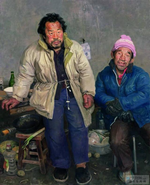 一张农民工油画卖出600万,陈丹青称赞他的作品:是人性和艺术