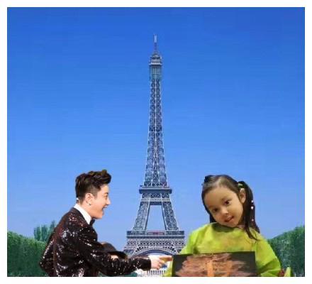 李小璐女儿小甜馨画了一幅埃菲尔铁塔,结果亮点却是贾乃亮!