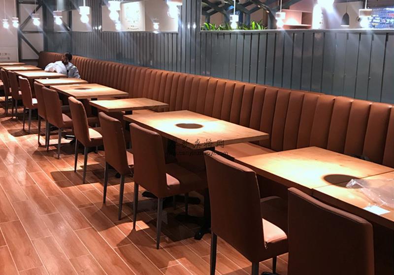 五种时尚有个性的餐桌椅子和卡座沙发搭配效果