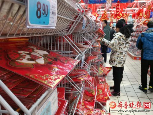 济南实拍:春节节庆饰品超市已上线