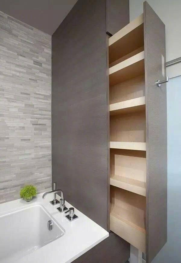 9种卫浴柜收纳,窄小收纳强,还大大提高空间利用率,超赞