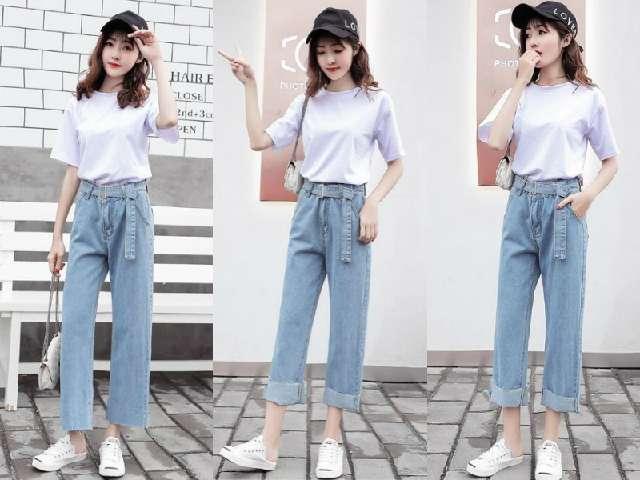 夏天,穿t恤+牛仔裤,再搭配上一双帆布鞋,简约又好看!