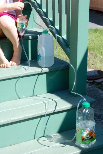 古希腊的黑科技!只用塑料瓶和吸管,做个孩子喜欢的自动喷泉