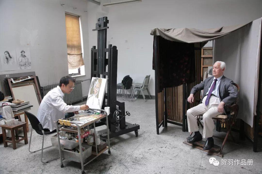 艺路跋涉丨为顾方舟院士绘油画肖像
