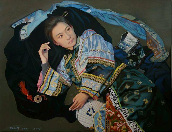 鲁迅美院教授熊燕油画中那些青春妩媚的美少女!
