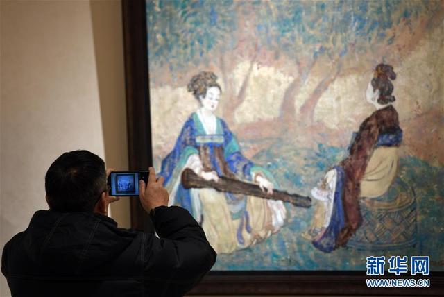 俄罗斯画家画敦煌系列油画作品亮相兰州