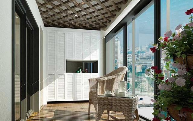 分享几种阳台吊顶的案例,为阳台锦上添花,显得更加美观