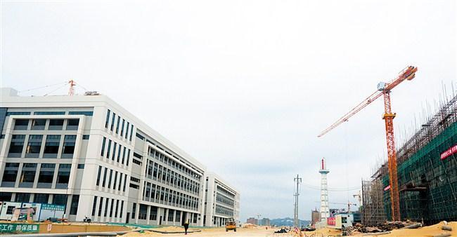 汕头潮阳区印染环保处理中心6栋通用厂房基本完工