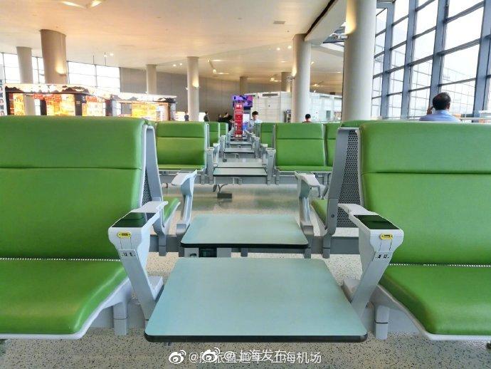 虹桥机场T2新增近150个智能座椅扶手,快来看↓