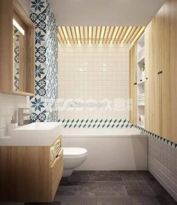 卫浴瓷砖这么配,上厕所我都愿意多待一会!