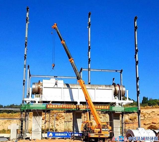 海顺德国内最大催化剂煅烧窑吊装安装顺利完成