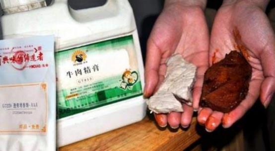 """""""假牛肉""""是怎么做成的?看到原材料以后,还敢买便宜牛肉?"""