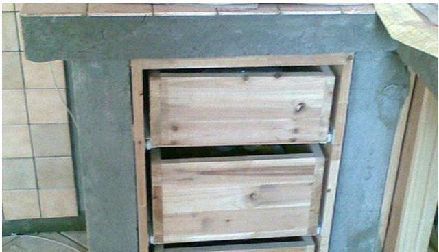 为省钱老公花2000块砖砌橱柜, 效果出来后还是不错的