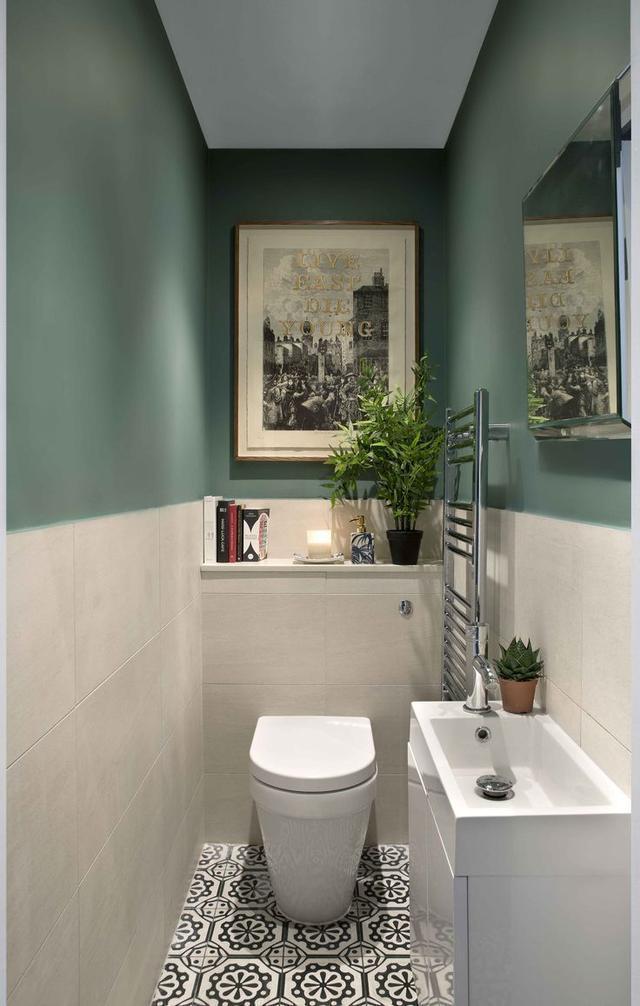 厨卫还在贴瓷砖?墙面刷上乳胶漆,颜色丰富还能跟瓷砖混拼!超美