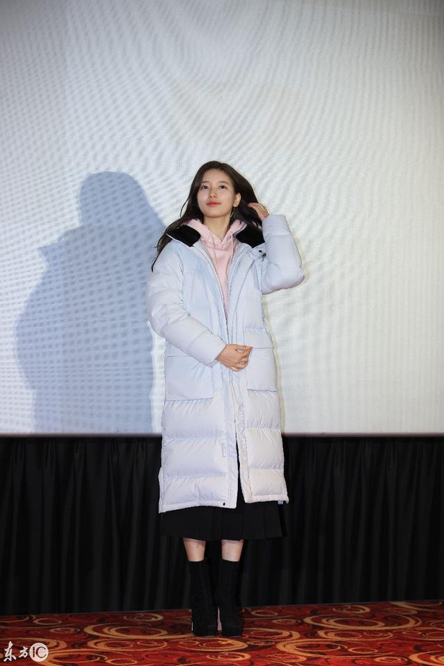23日参加活动,身穿白色羽绒服的秀智,依旧是那个国民初恋女神
