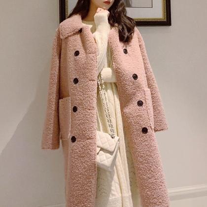 """这""""羊羔毛""""外套一出,皮草就蔫了!配加绒小衫,想不美都难啊"""