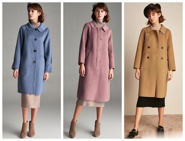 长款羊绒大衣+针织裙+尖头鞋=高级美!显高显瘦显逼格!