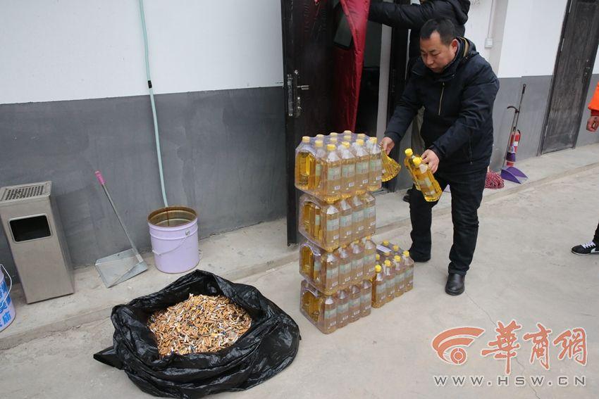 胡家庙街办治理乱扔烟头出新招 1公斤烟头兑换两升食用油