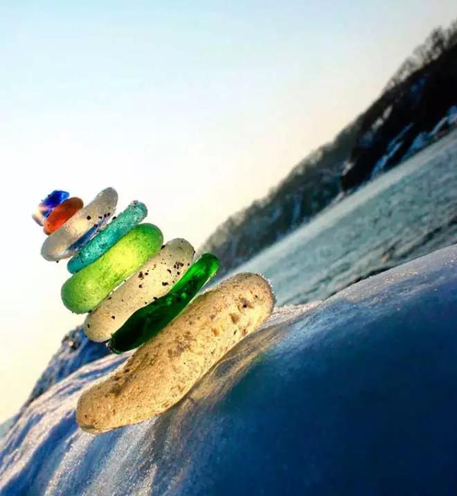 彩色的鹅卵石