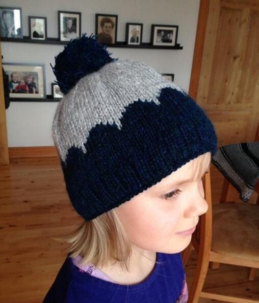 大雪纷飞,儿童冬季必备针织帽子,保暖还漂亮!配针织流程图!
