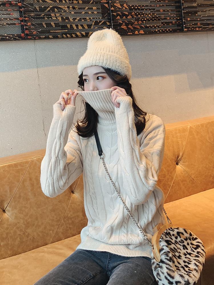 时尚简约的针织毛衣,不管是单穿还是打底都好看哦!
