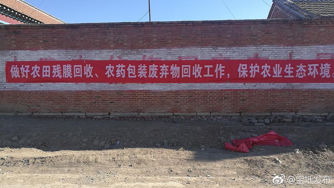 宝坻区王卜庄镇认真做好农田残膜和农药废弃物品回收宣传工作