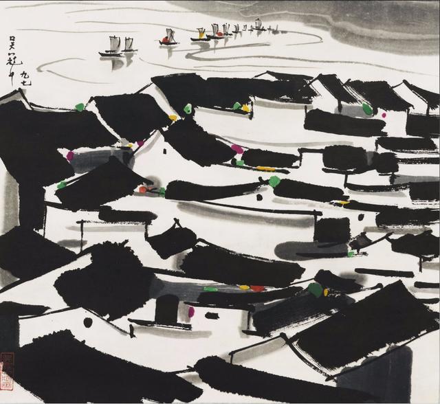 被吴冠中先生的江南人家美哭,有感情的作品才可能是艺术品