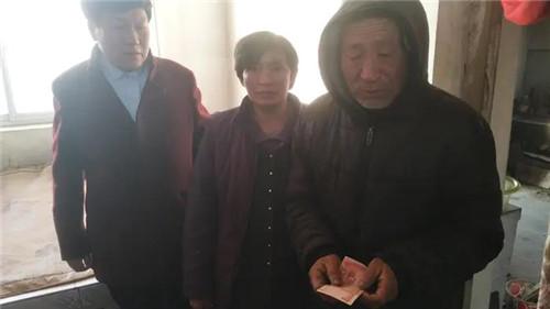 河北唐山浭阳爱心救援队携亿金鑫门业共同开展慰问孤寡老人活动