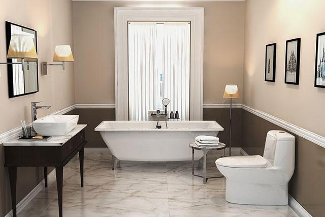 卫浴间装修成这样,简直让人流连忘返