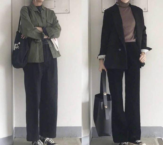 适合上班族女生的衣橱穿搭,西服外套+背带裙优雅又高级,美腻了