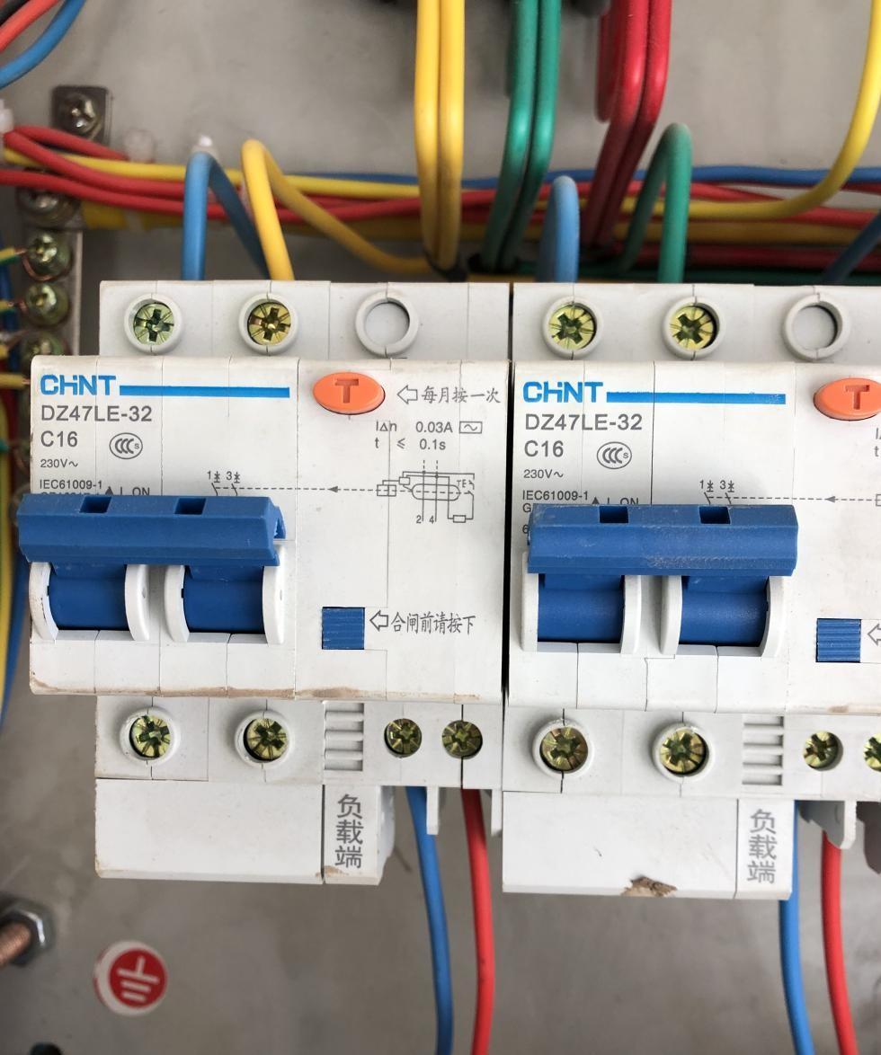 从空气开关接出的线是否可以连接漏电保护器后再连接负载?