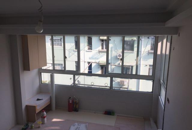 30平的新家,一地台一块布,隔出3间房,阳台、厨卫,一个不少