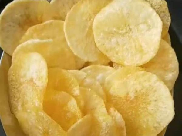 想吃薯片,自己动手做,比外面买的好吃百倍,无任何添加剂