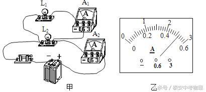 新人教版九年级物理15.5串并联电路中电流的规律限时作业答案课标