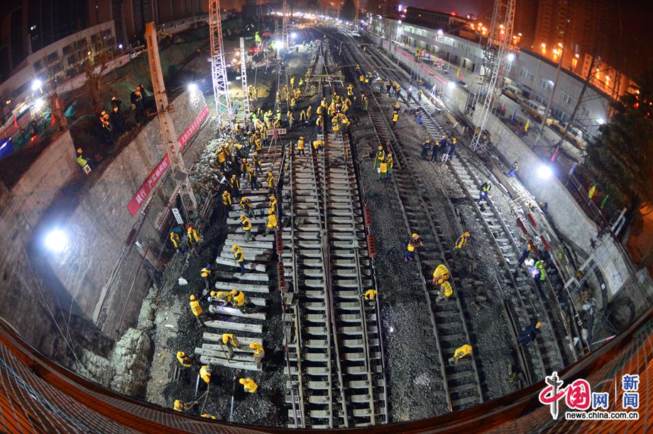 西安站改扩建工程进入主体工程实施阶段 首次联锁设备换装施工圆满完成