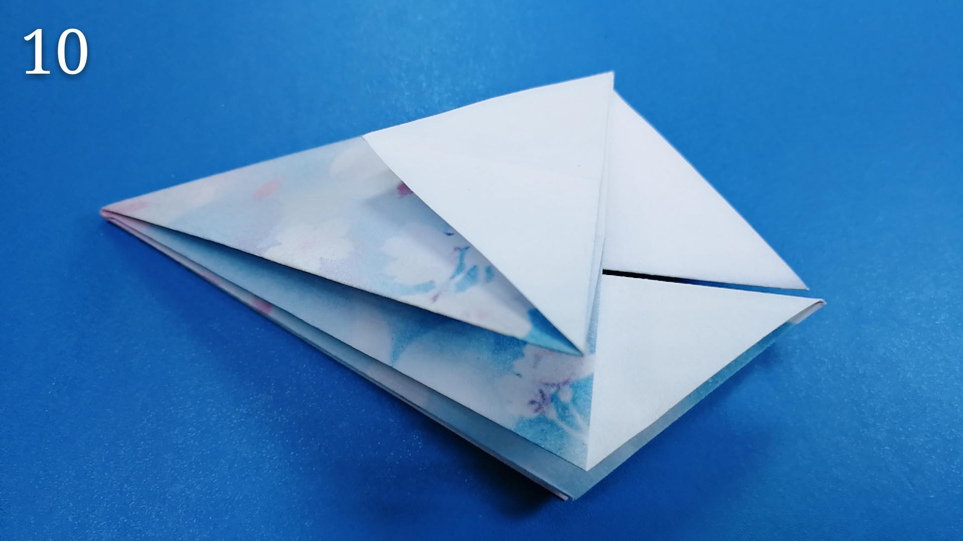 亲子互动折纸一把小孩子很喜欢玩的雨伞步骤详细教程图解