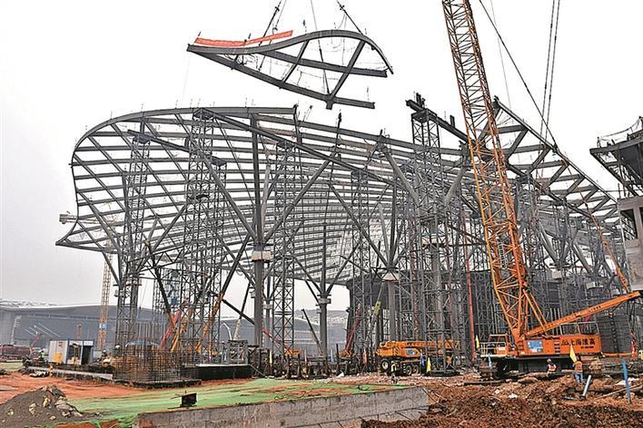 全球最大会展中心北区钢结构工程完工